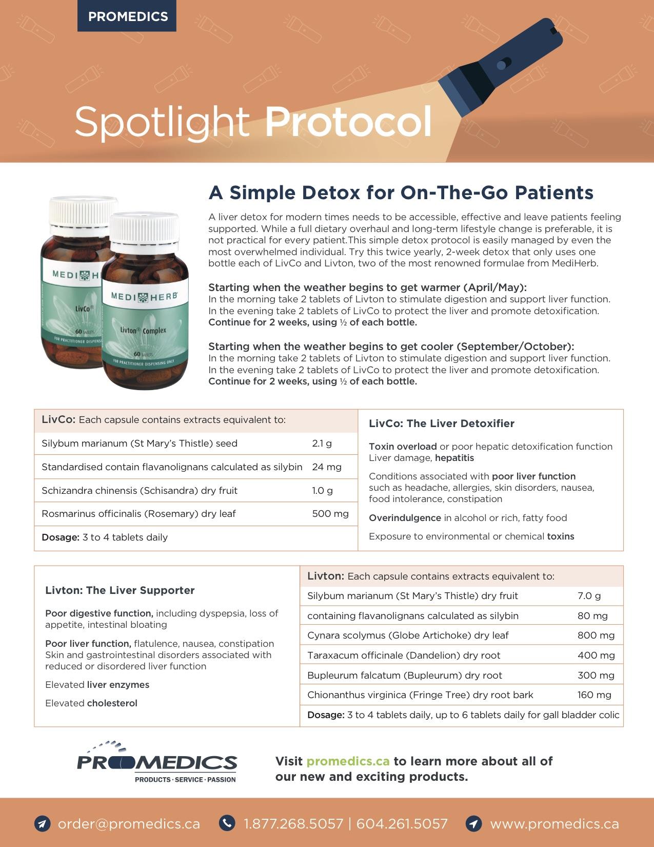 Spotlight Protocol - Detox